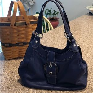 Great Purple Coach Purse